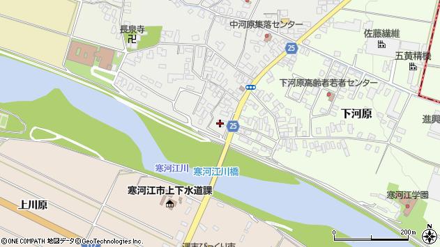 山形県寒河江市中河原25周辺の地図
