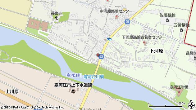 山形県寒河江市中河原22周辺の地図
