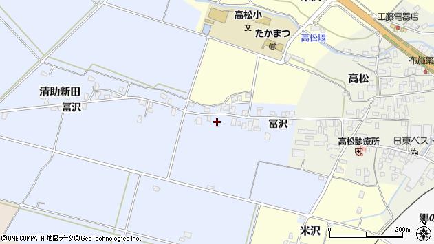 山形県寒河江市清助新田328周辺の地図