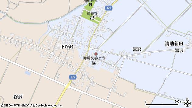 山形県寒河江市清助新田87周辺の地図