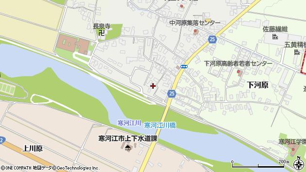 山形県寒河江市中河原257周辺の地図