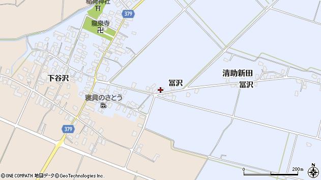 山形県寒河江市清助新田918周辺の地図