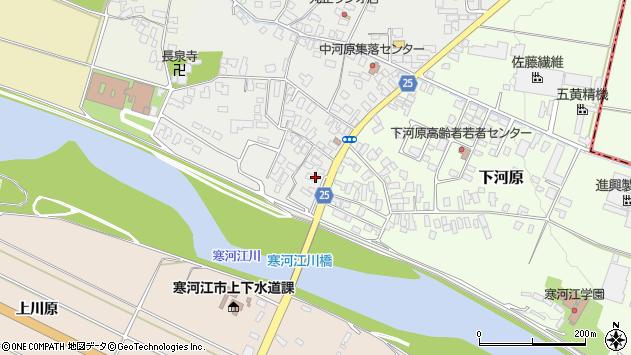 山形県寒河江市中河原223周辺の地図