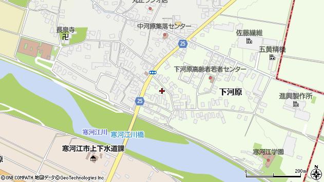 山形県寒河江市下河原181周辺の地図