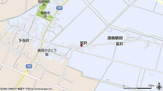山形県寒河江市清助新田700周辺の地図