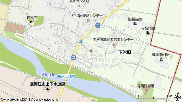 山形県寒河江市下河原214周辺の地図
