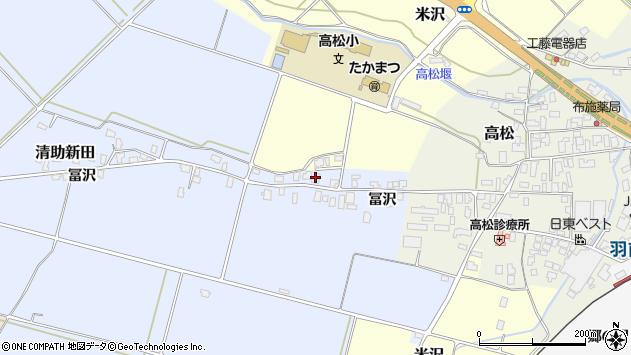 山形県寒河江市清助新田592周辺の地図