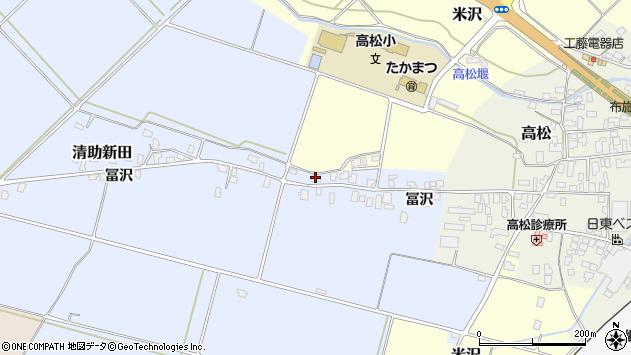 山形県寒河江市清助新田327周辺の地図
