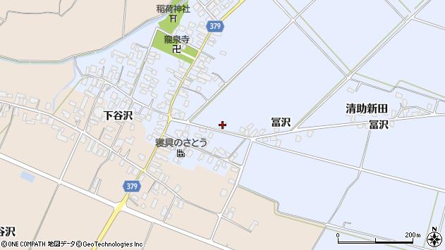 山形県寒河江市清助新田121周辺の地図