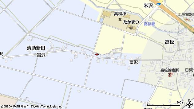 山形県寒河江市清助新田261周辺の地図