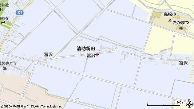 山形県寒河江市清助新田240周辺の地図