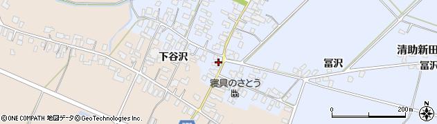山形県寒河江市清助新田43周辺の地図