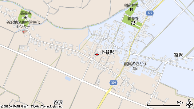 山形県寒河江市谷沢526周辺の地図