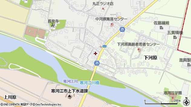 山形県寒河江市中河原19周辺の地図