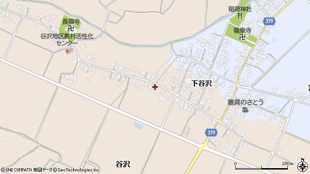 山形県寒河江市谷沢523周辺の地図