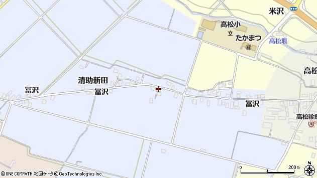 山形県寒河江市清助新田252周辺の地図