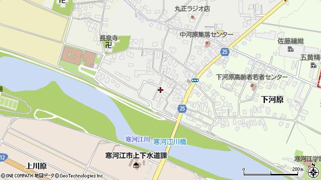 山形県寒河江市中河原31周辺の地図