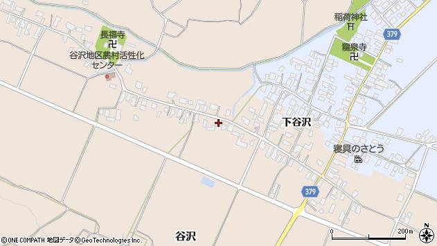山形県寒河江市谷沢522周辺の地図