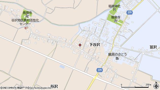 山形県寒河江市谷沢周辺の地図