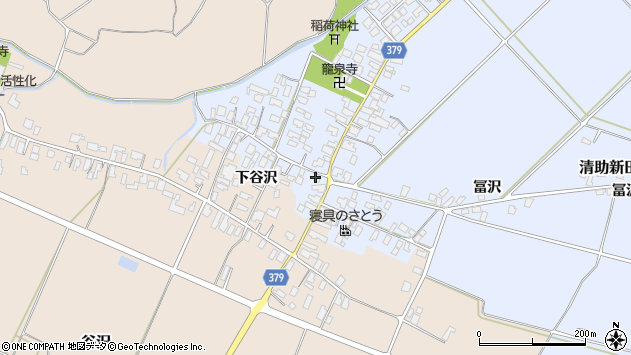 山形県寒河江市清助新田44周辺の地図