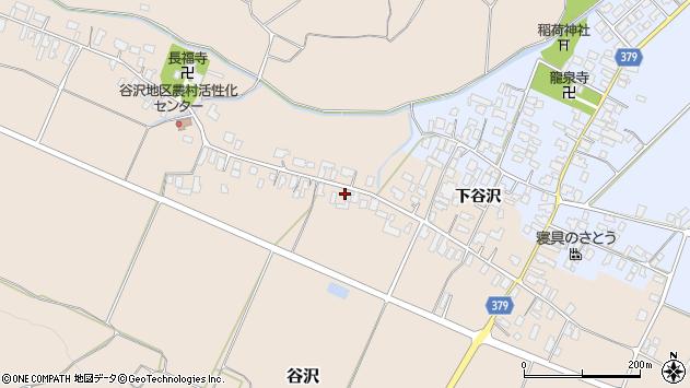 山形県寒河江市谷沢521周辺の地図