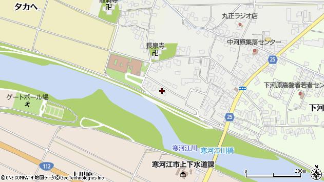 山形県寒河江市中河原39周辺の地図