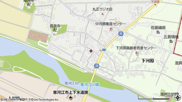 山形県寒河江市中河原12周辺の地図