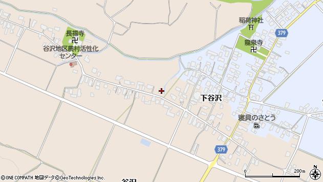 山形県寒河江市谷沢1428周辺の地図