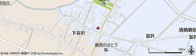 山形県寒河江市清助新田45周辺の地図