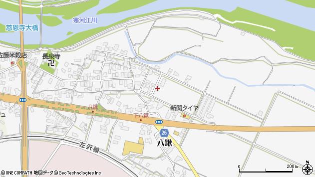 山形県寒河江市八鍬1440周辺の地図