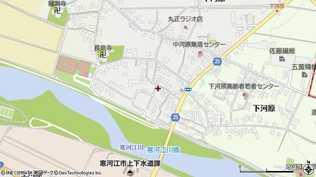 山形県寒河江市中河原9周辺の地図