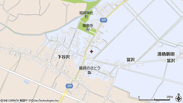 山形県寒河江市清助新田48周辺の地図