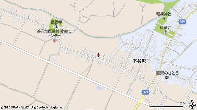 山形県寒河江市谷沢518周辺の地図