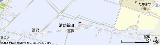 山形県寒河江市清助新田190周辺の地図