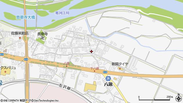 山形県寒河江市八鍬81周辺の地図