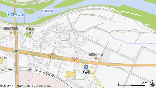 山形県寒河江市八鍬246周辺の地図