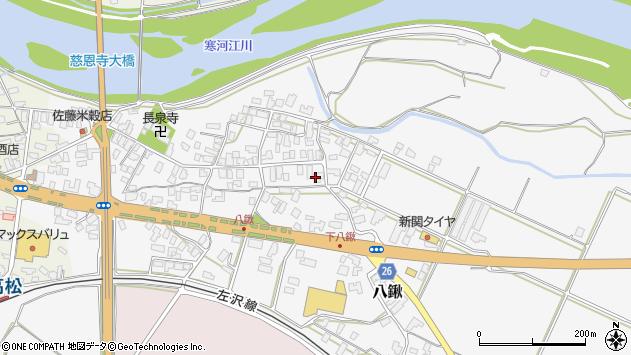 山形県寒河江市八鍬78周辺の地図