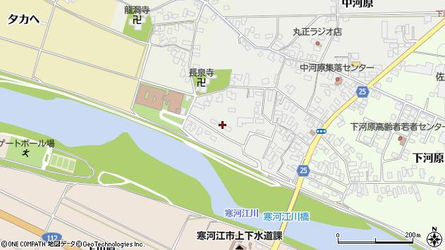 山形県寒河江市中河原34周辺の地図