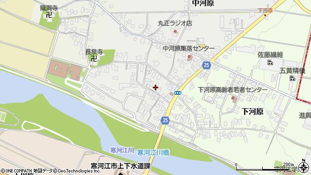 山形県寒河江市中河原7周辺の地図