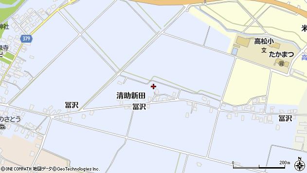 山形県寒河江市清助新田191周辺の地図