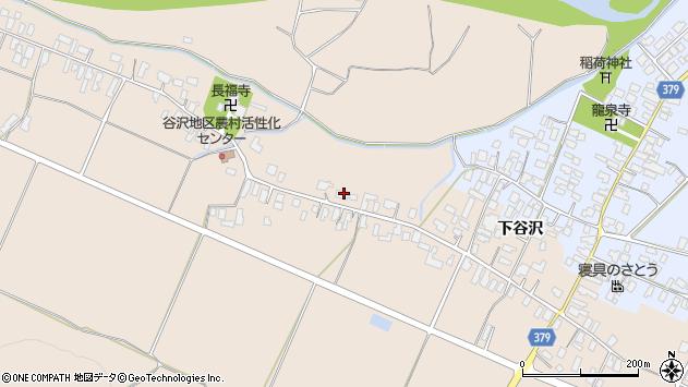 山形県寒河江市谷沢418周辺の地図