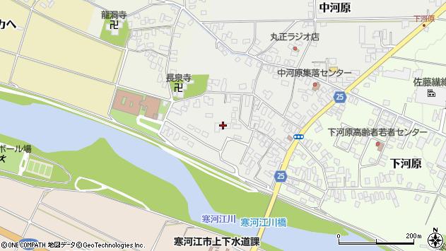 山形県寒河江市中河原222周辺の地図