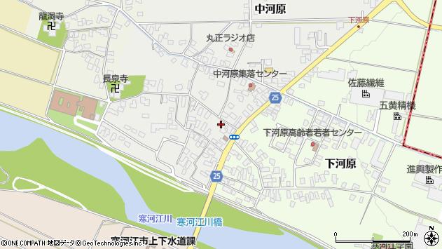 山形県寒河江市中河原231周辺の地図