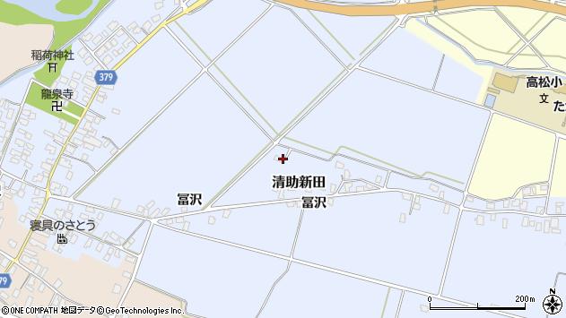 山形県寒河江市清助新田173周辺の地図