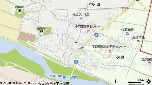 山形県寒河江市中河原229周辺の地図