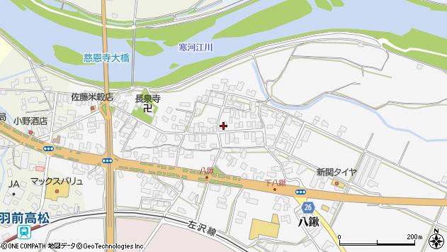 山形県寒河江市八鍬56周辺の地図