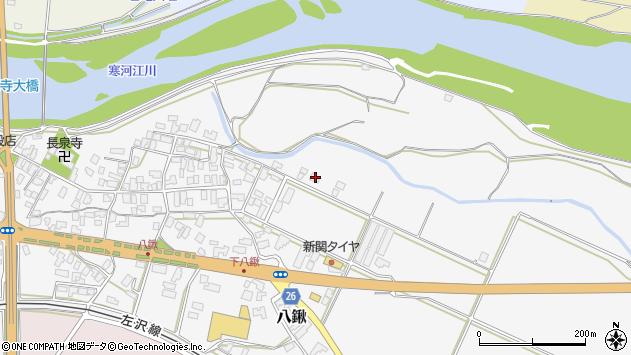 山形県寒河江市八鍬91周辺の地図