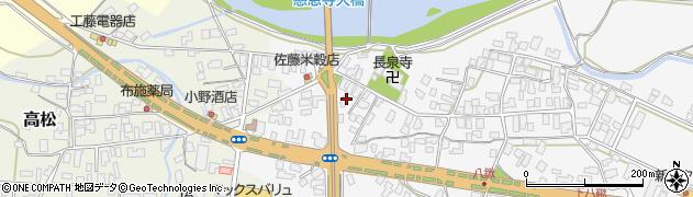 山形県寒河江市八鍬1609周辺の地図