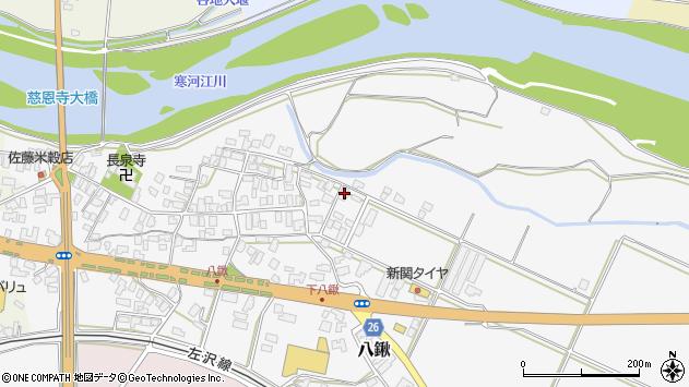山形県寒河江市八鍬85周辺の地図