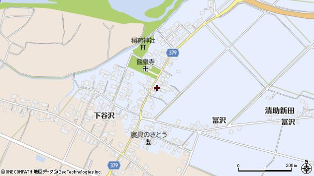山形県寒河江市清助新田50周辺の地図